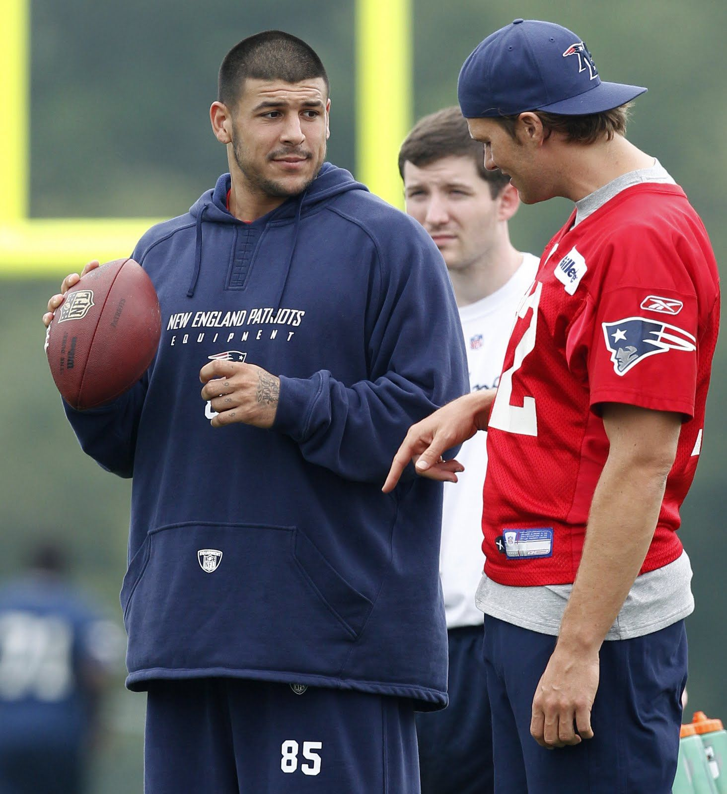Aaron hernandez was cut by the new england patriots after he was - Aaron Hernandez At Training Camp W Tom Brady July 2011 Patriots New England