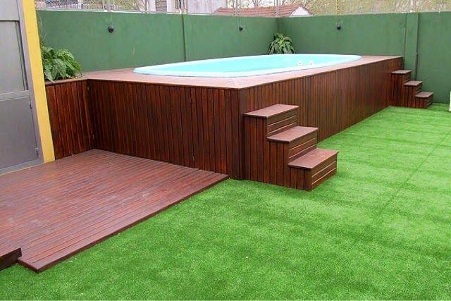Piscinas elevadas y recubrimiento en deck jardineria pinterest piscinas elevadas - Piscinas en alto ...