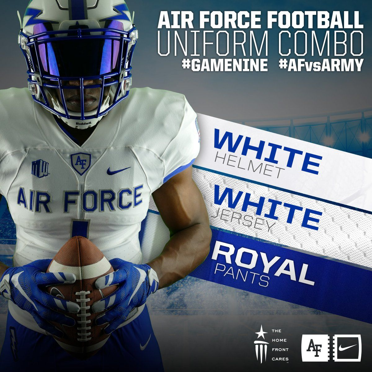 Air Force Football Uniforms Sports Design White Jersey