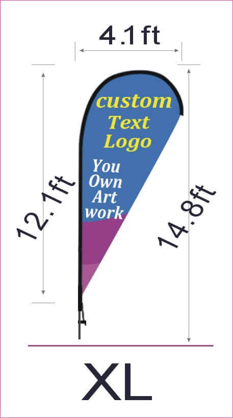 What Is The Teardrop Flag Size In 2020 Teardrop Banner Custom Banner Sizes