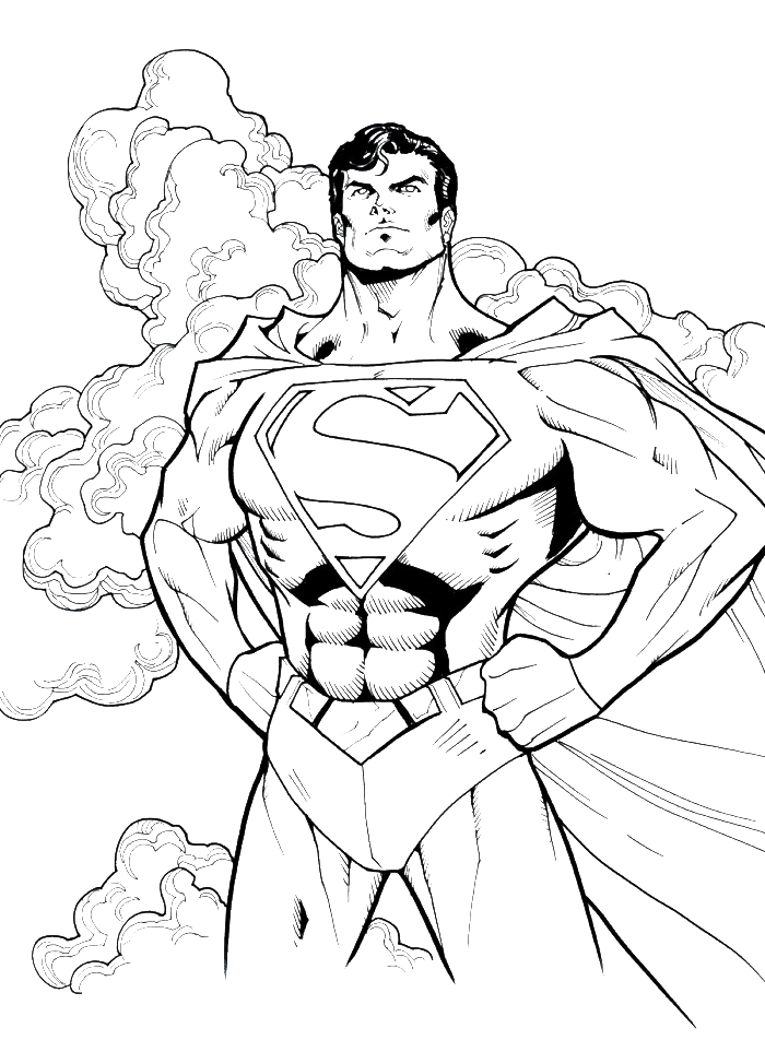 Garrett 2015 Superman Hero To All Coloring Pages