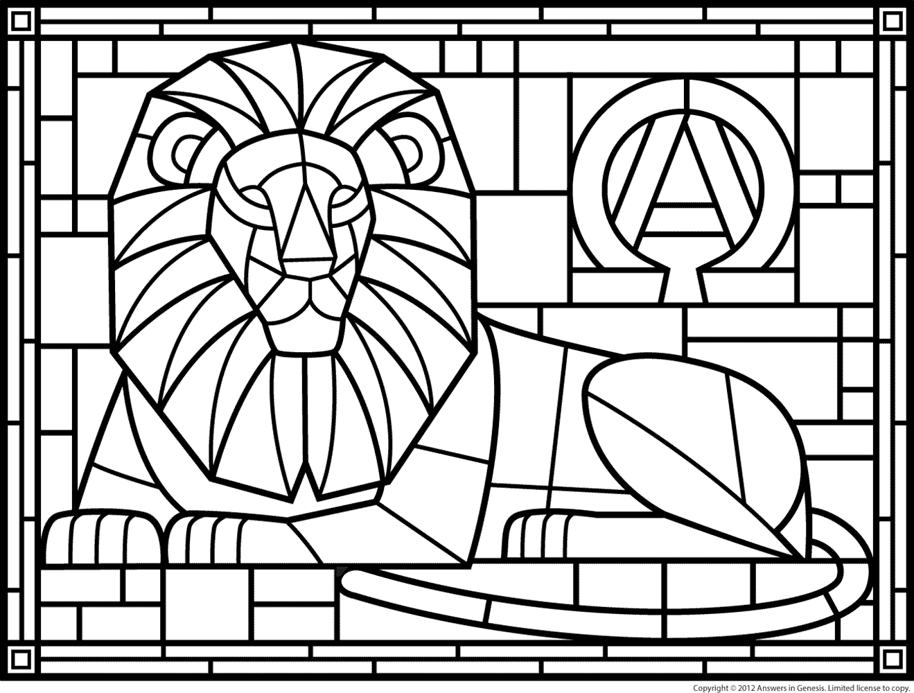 Coloring Pages Stained Glass Patterns Page 1