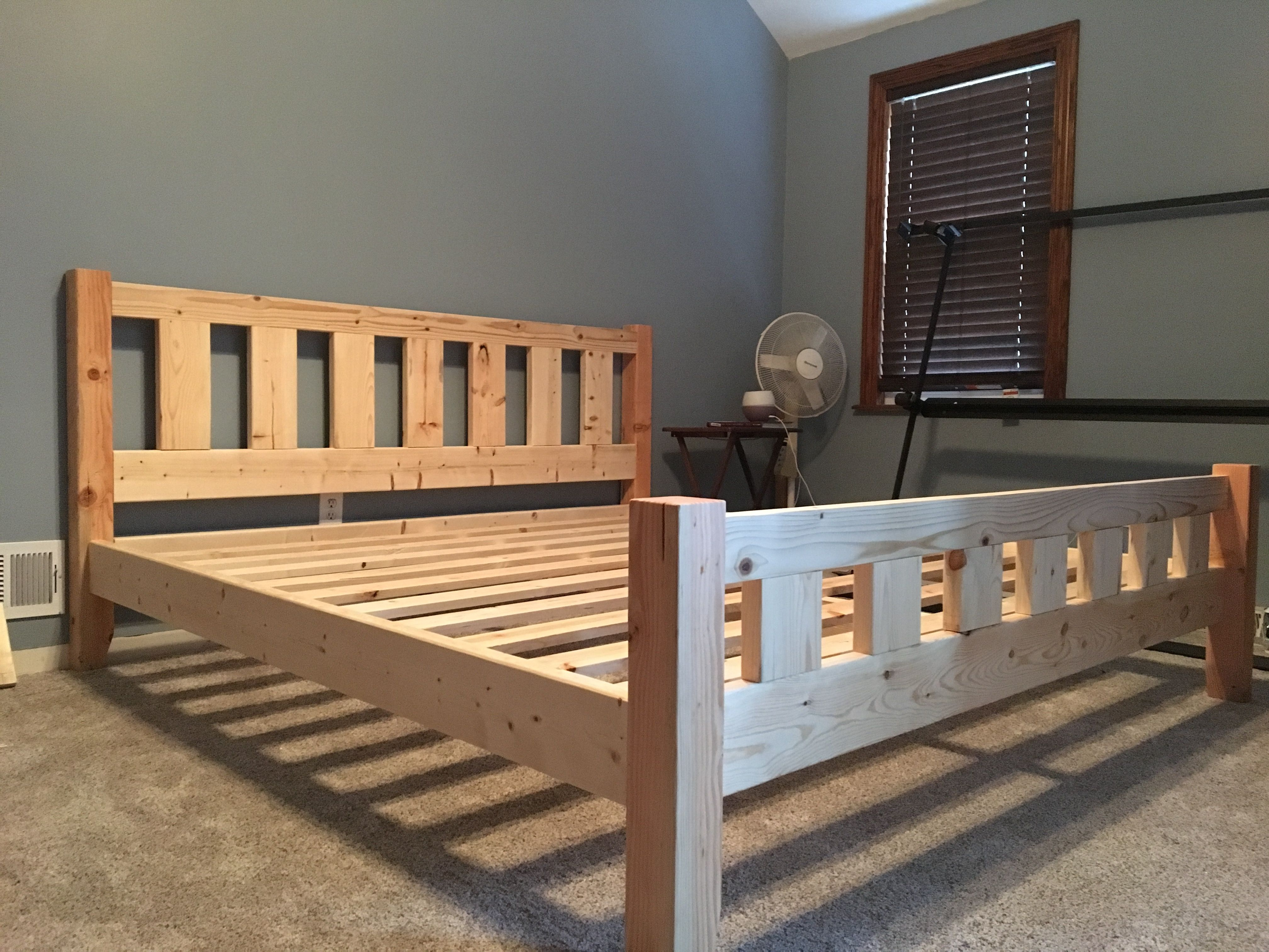 Best King Bed Frame Built This With 2X Material And 4X4 Posts 400 x 300