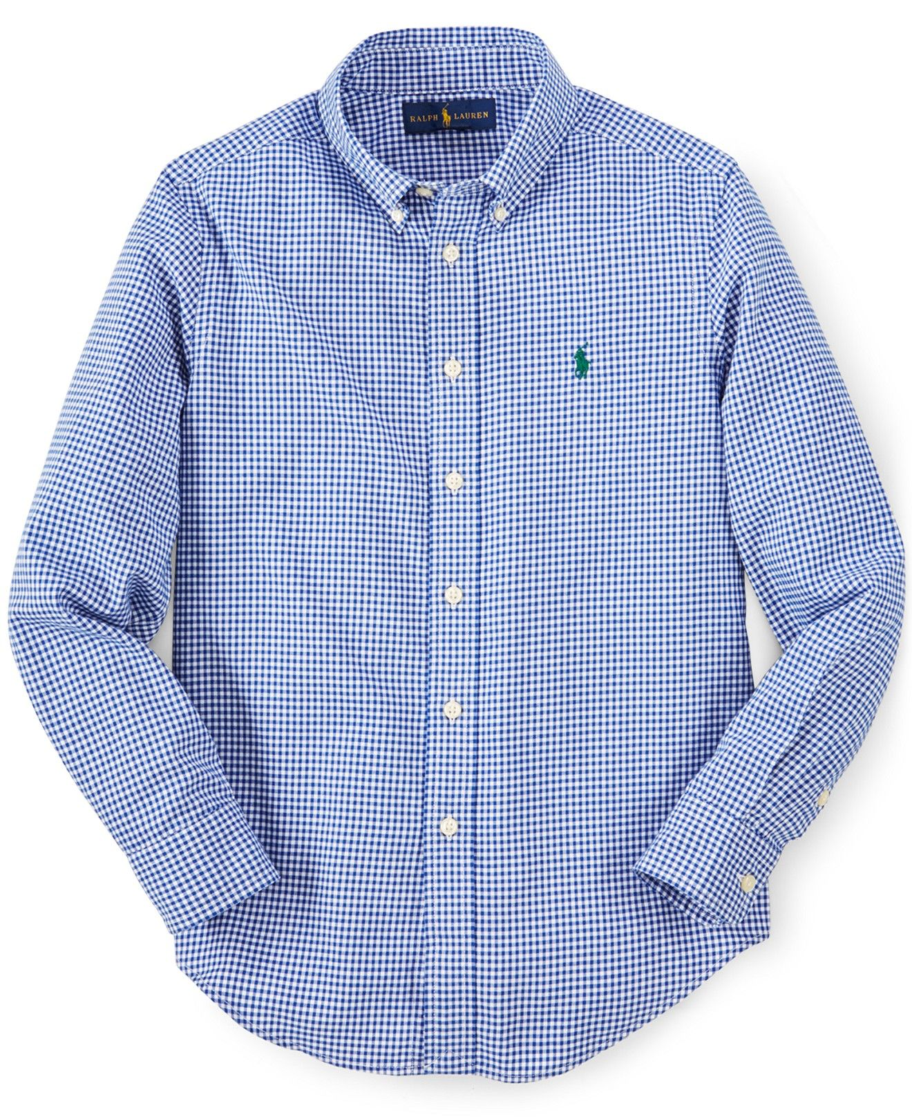 Ralph Lauren Little Boys' Gingham Blake Shirt - Toddler Boys (2T-5T) - Kids & Baby - Macy's