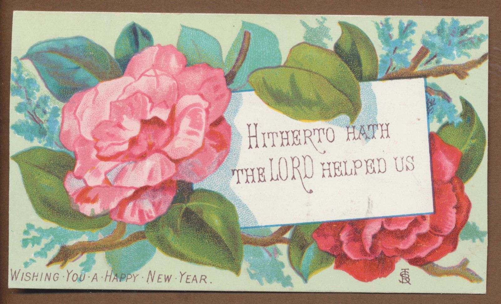c5416 good small victorian religious new year card scripture ebay
