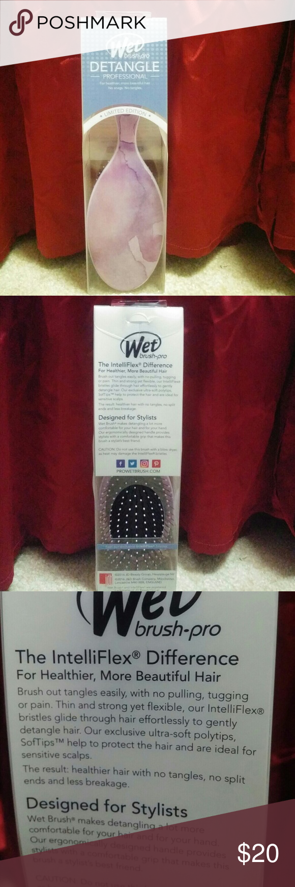 Wet brush-pro Professional detangle wet brush pro for healthier,more beautiful hair. No snags.No tangles. *Limited edition*.brand new in box never opened. Wet pro brush Other