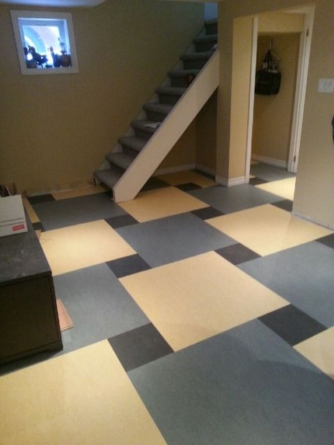 Marmoleum Click Great Pattern For A Basement By Cash And Carry Carpet Centre In Ottawa Carpet Installation Diy Carpet Rugs On Carpet
