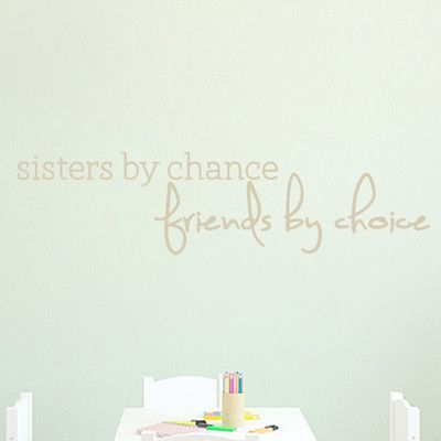 SweetumsWallDecals Sisters by Chance Wall Decal Color: Beige