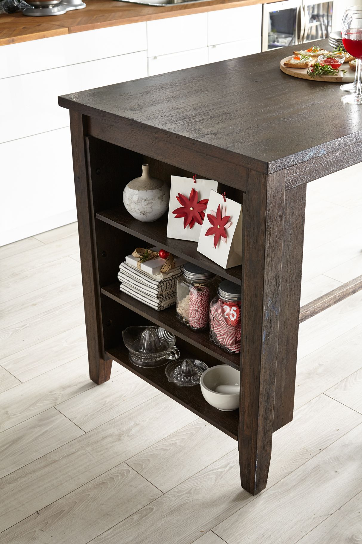 Astoria Counter Height Dining Table With Open Shelving Counter Height Dining Table Open Shelving Dining Table