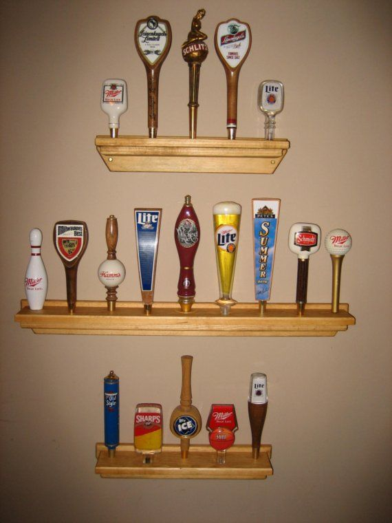 Beer Tap Handle Display Shelf 9 Taps Bonus Free Gift By