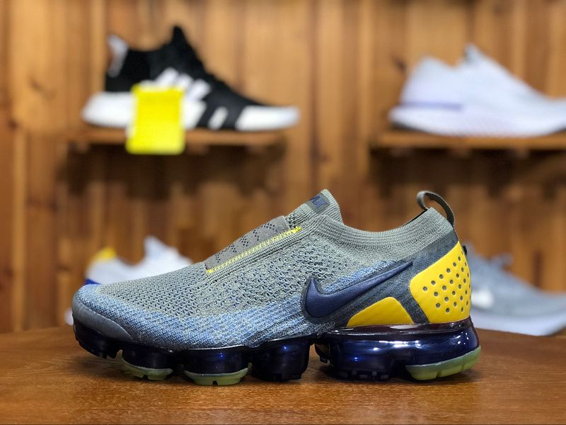 1a9f700af4037 2018 Nike Air Vapormax Flyknit MOC 2.0 Mens Athletic Shoes Gray Yallow Navy  Red AH7006-004