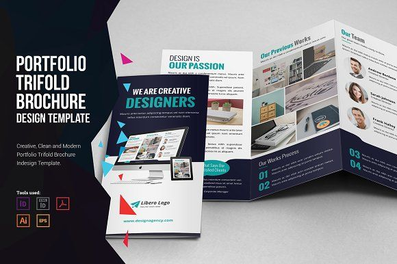 Portfolio Trifold Brochure Design Brochures Brochure Template And