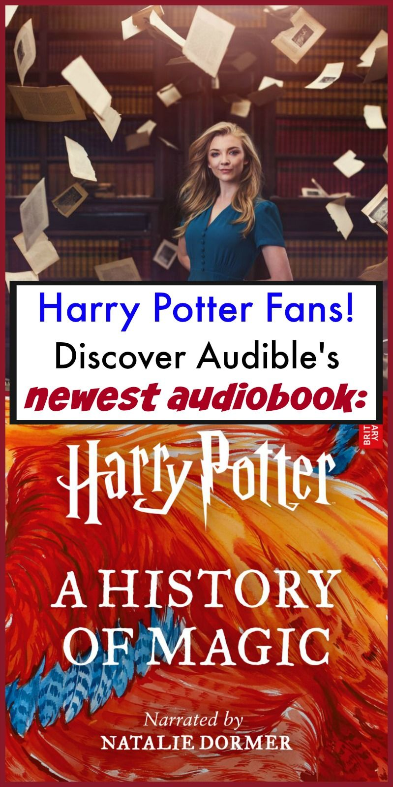Audible Book for Harry Potter Fans Harry Potter History