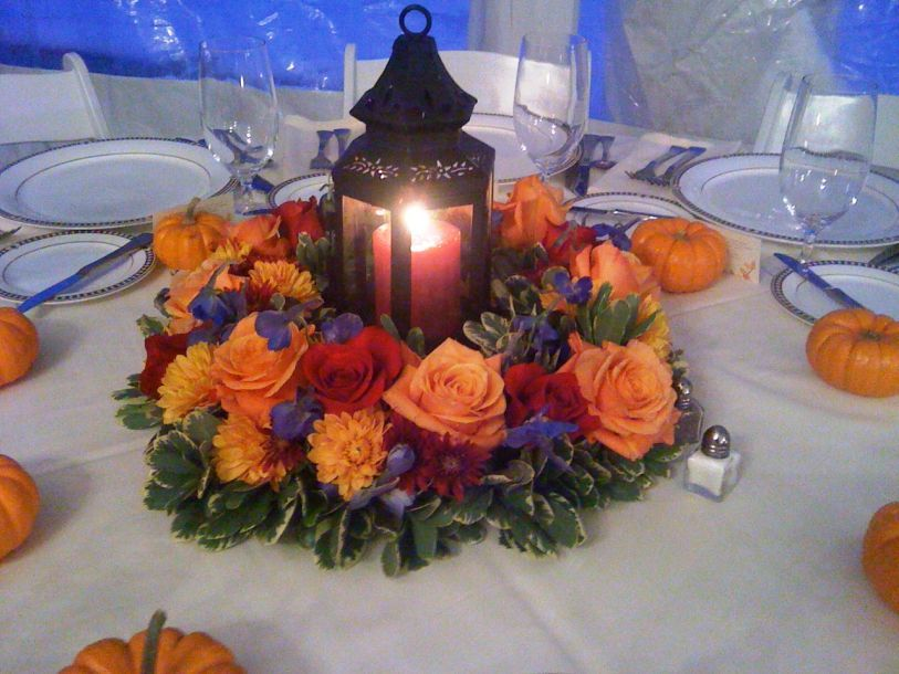 Fall Wedding Centerpieces With Lanterns Give Us Light, But