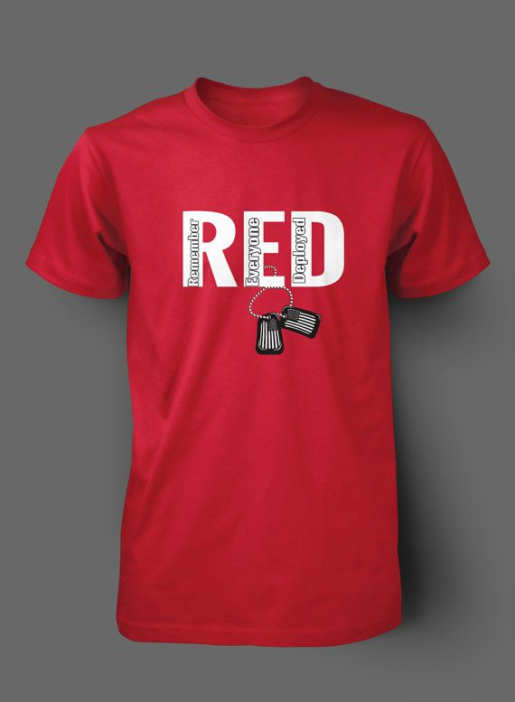 dd81543bb RED Friday Dog Tags t shirt by WilliamsDigitalStore on .