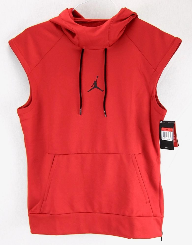 28f38d69cdf570 Nike Air Jordan 360 Fleece Hoodie Red Sleeveless Therma-fit Mens Size L New   Nike  SweatshirtsFleeces