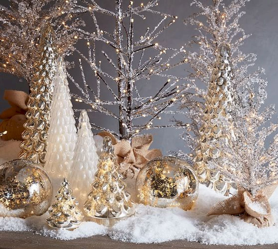 90 Christmas Tree Decoration To Impress Your Guess Home To Z Gold Christmas Decorations Silver Christmas Decorations Rose Gold Christmas Decorations