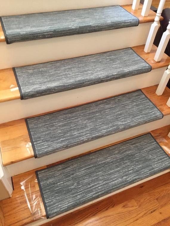 Best Velvet Chic Denim True Bullnose™ Padded Carpet Stair Tread 400 x 300