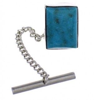 Turquoise Genuine Sterling Silver Southwest Tie Tack FX24742