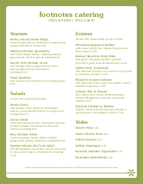 CATERING MENU TEMPLATE USE Party Planning Pinterest - Catering menu template