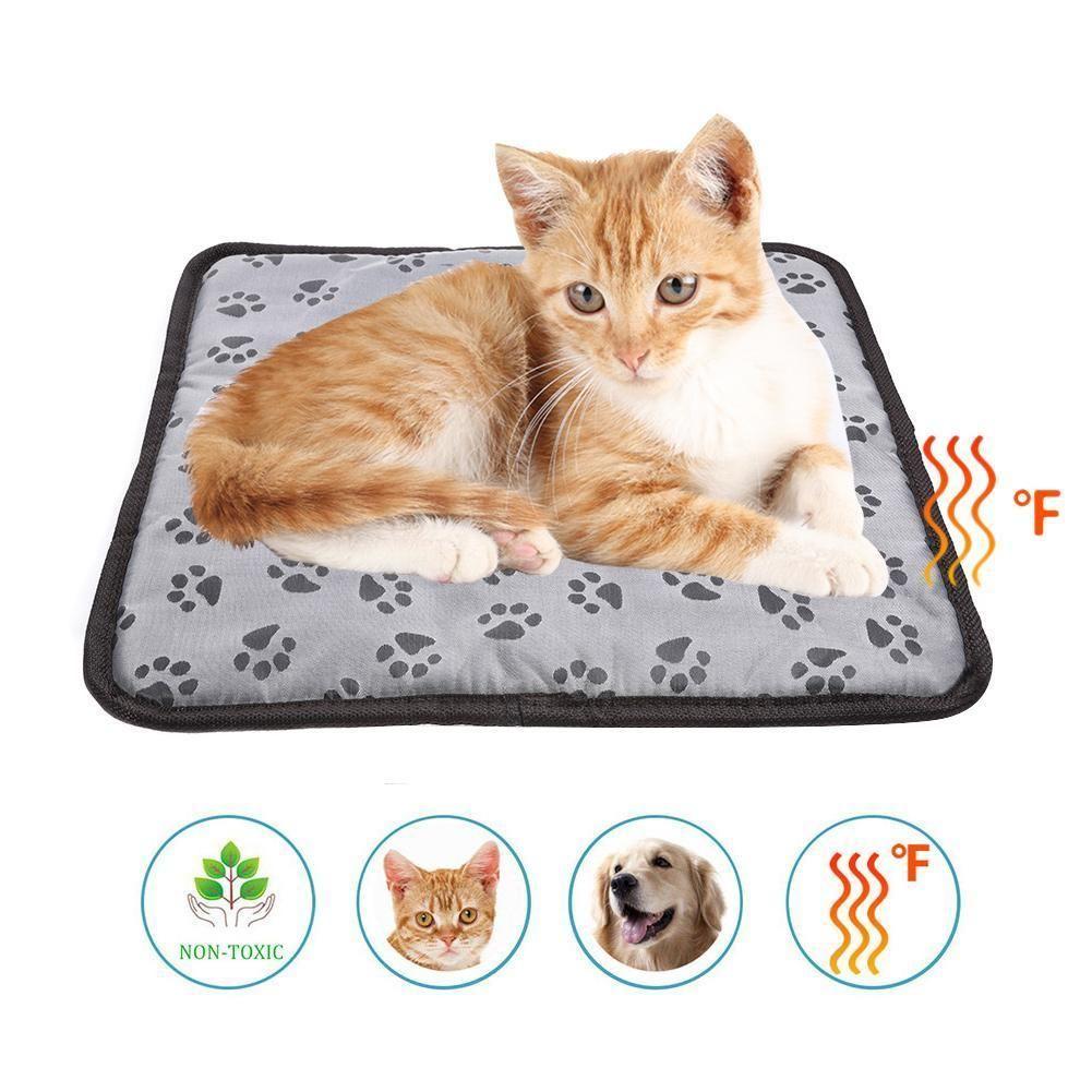Pet Heating Pad Cat Electric Heating Mat Footprints