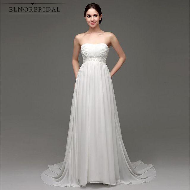 simple cheap wedding dresses 2018 bruidsjurken strapless a line