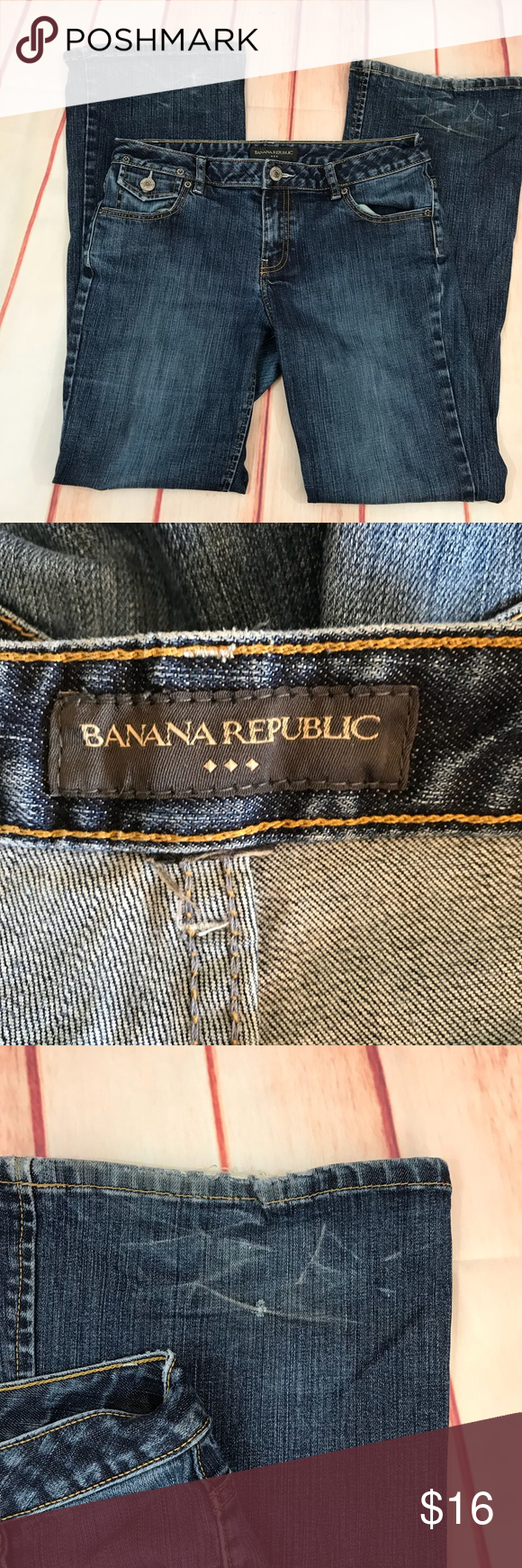 Banana Republic Jeans, Size Aprox 16 x 32 Size is tore off