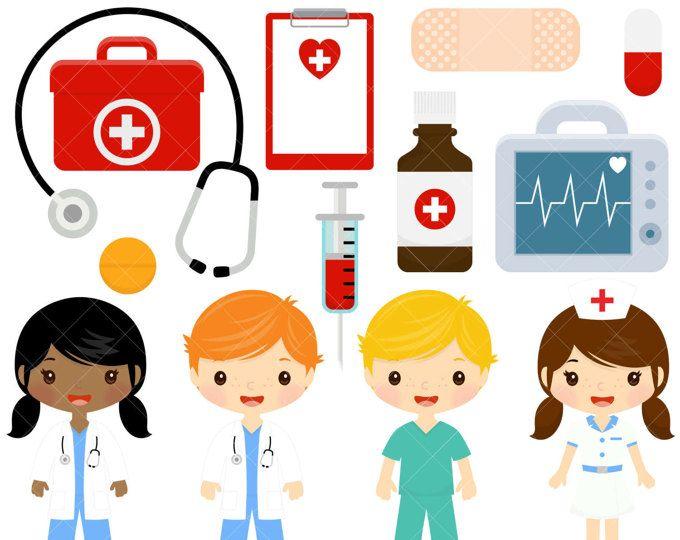 foto de Chicos lindo de la enfermera y el Doctor clipart imágenes
