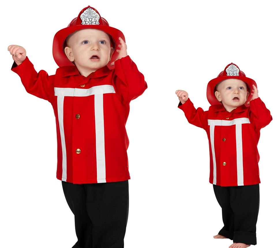 Wilbers Feuerwehrmann Kostüm rot 86 - 98 cm - Babykostüm