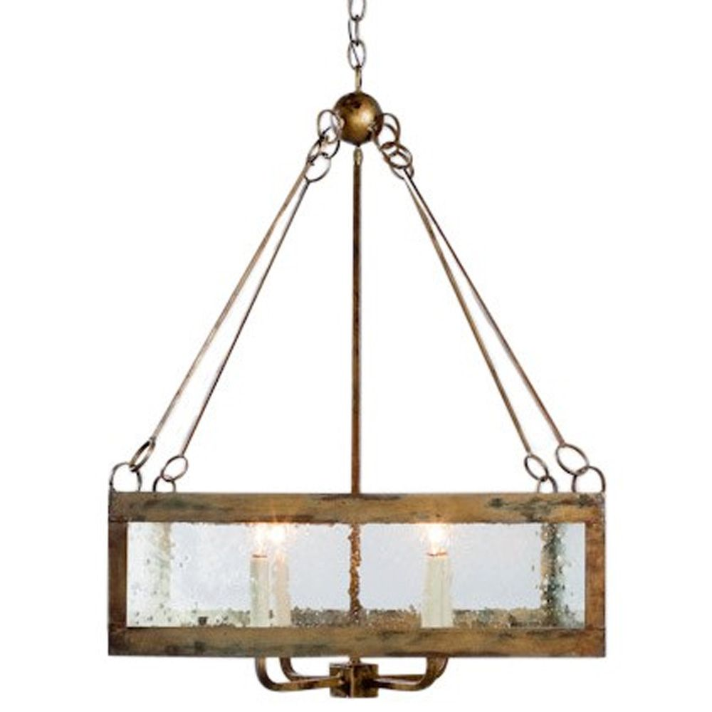 Seeded Gl Square Chandelier Made
