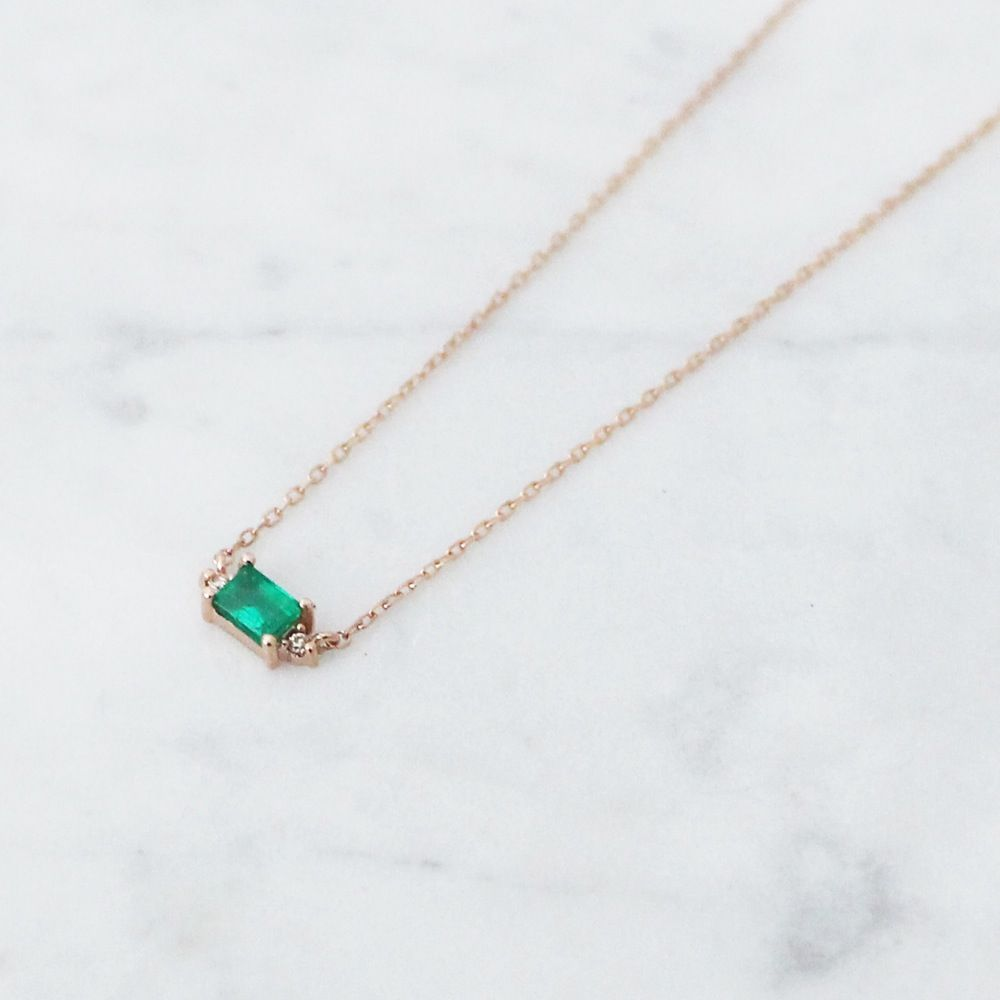 Mini sparkling emerald necklace emerald necklace emeralds and minis