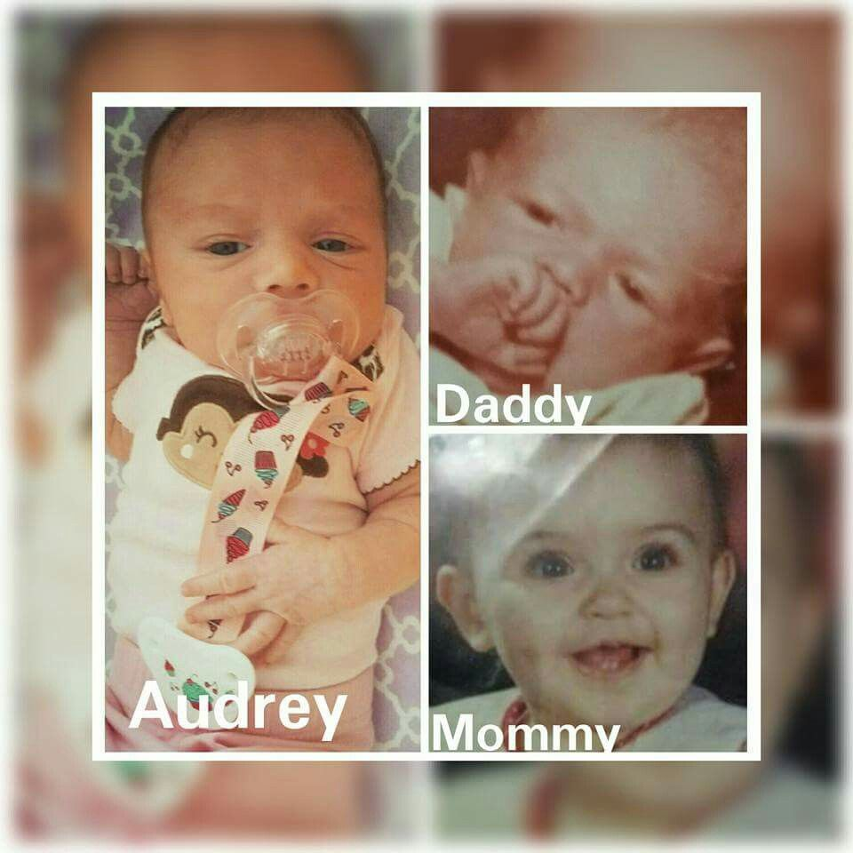 and here is a picture of mommy and daddy and baby audrey ! very nice