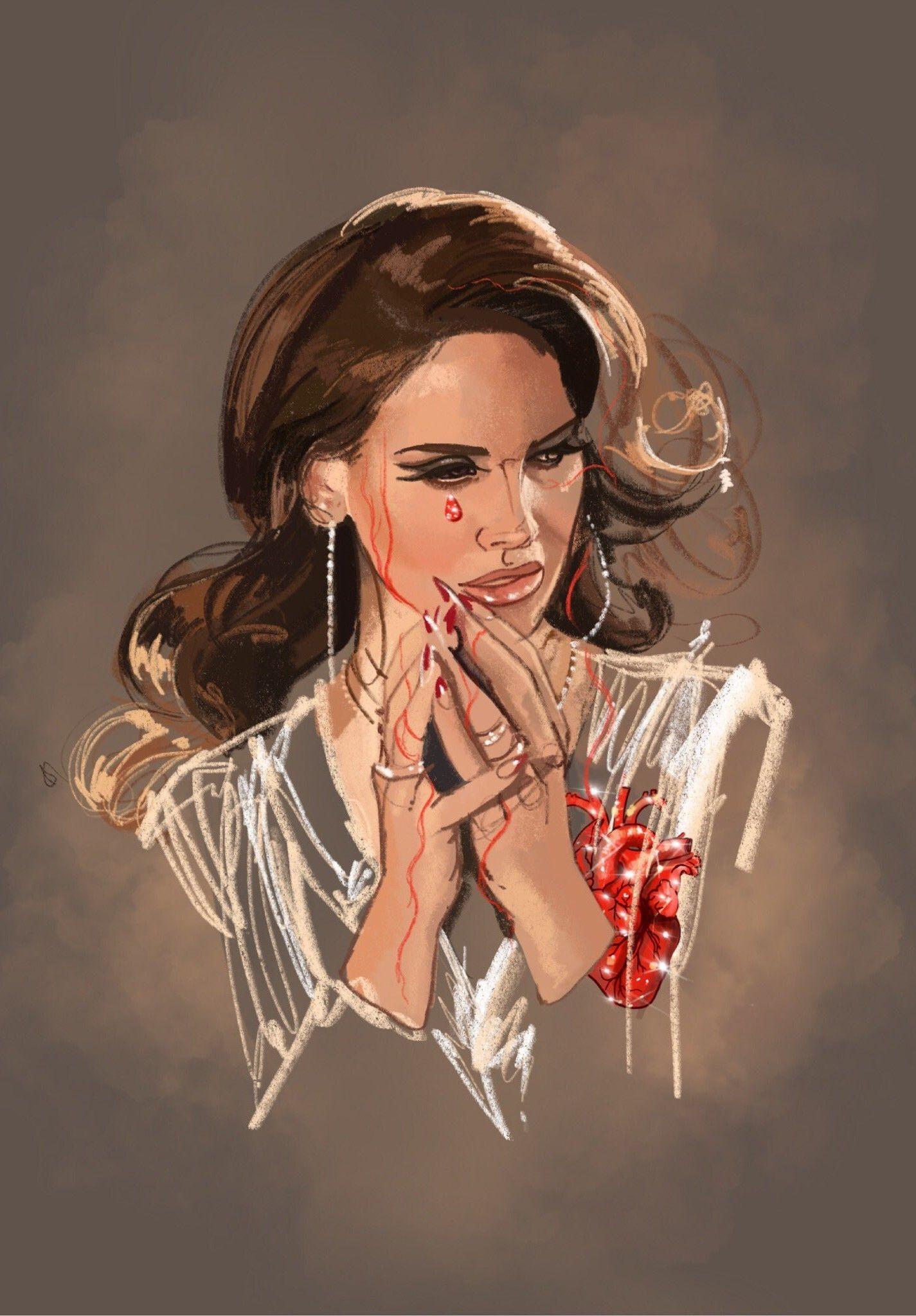 Lana Del Rey Art By Fernando Monroy Lana Del Rey Art Lana Del Rey Tattoos Lana Del Rey
