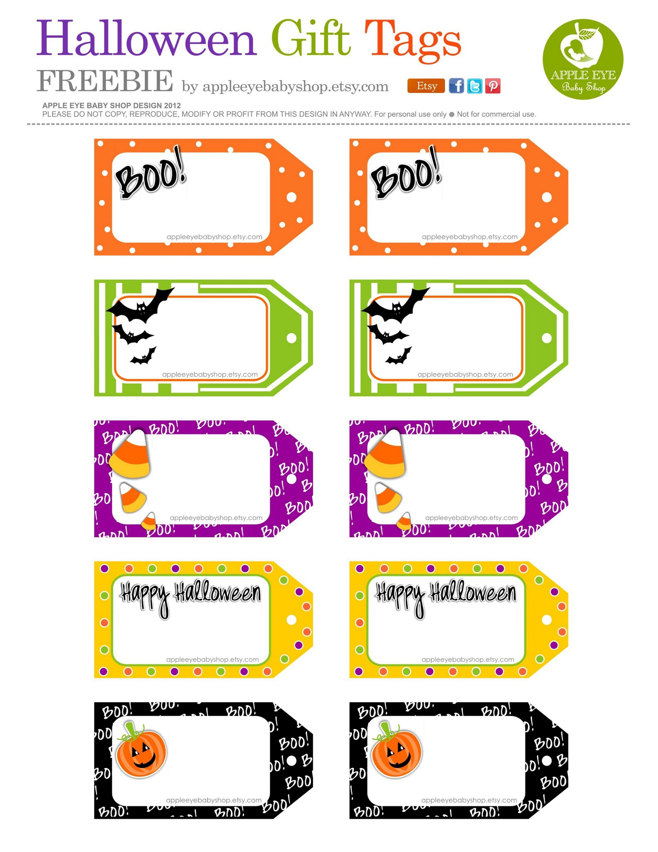All Sizes Free Printable Halloween T Tags By Apple Eye Baby Shop Flickr