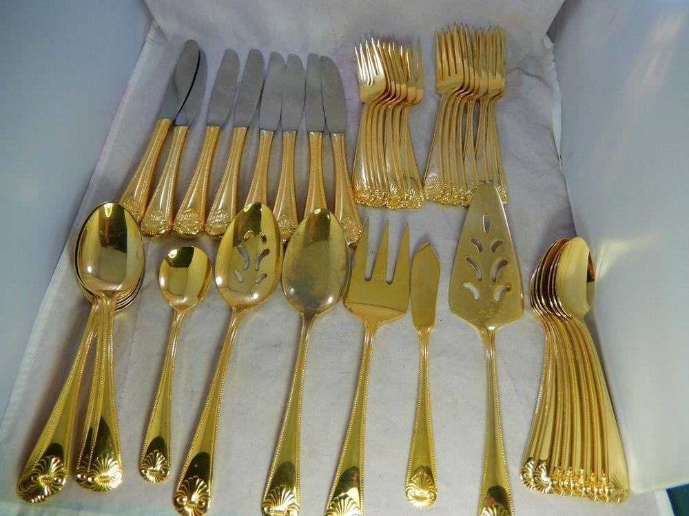 Vntg 1847 Rogers Bros E P Korea Gold