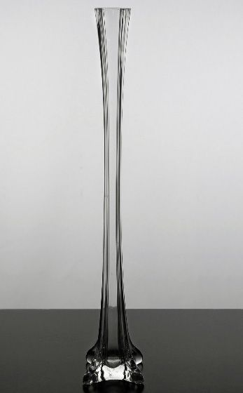 Clear Glass Eiffel Tower 20 Inch Vase In 2018 Tonivelarde