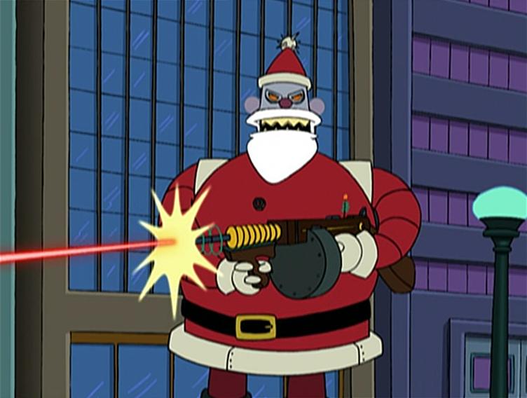 Futurama Christmas Episodes.Robot Santa Claus Favorite Santas Futurama Christmas