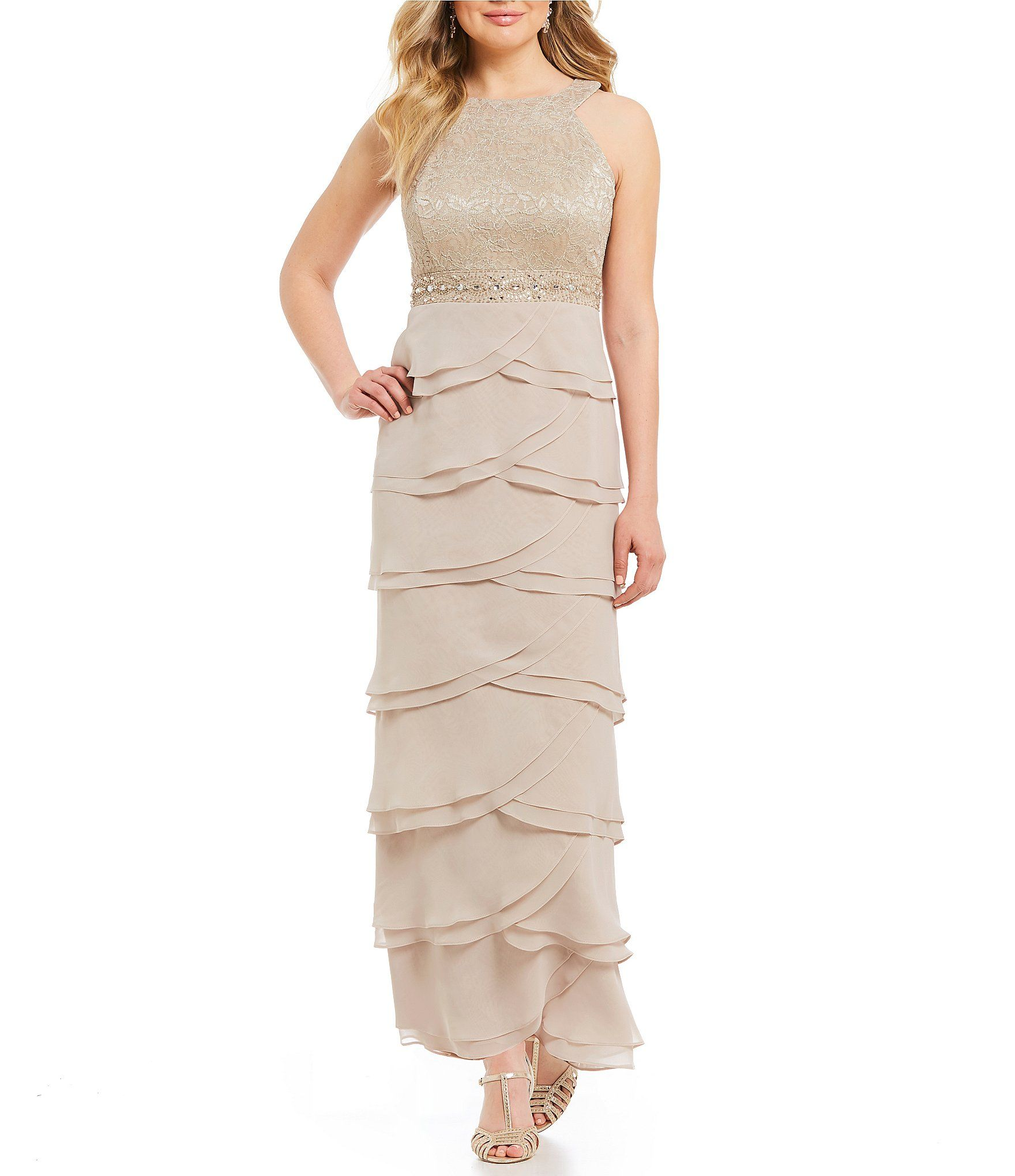 39cbd64b892 Shop for Jessica Howard Petite Layered Skirt Gown at Dillards.com. Visit  Dillards.com to find clothing