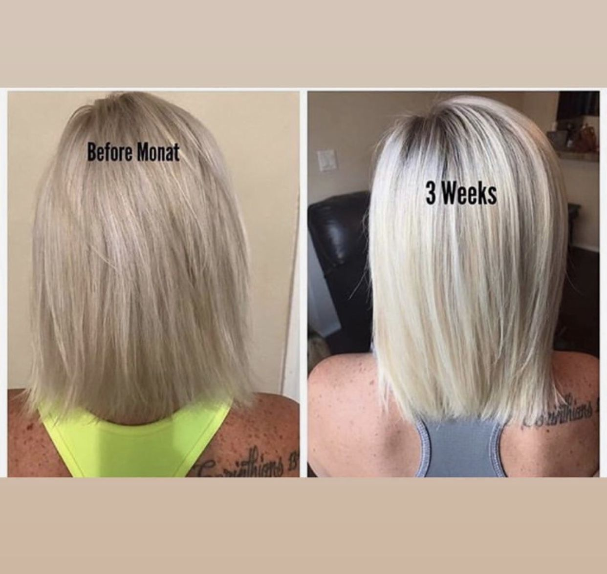Pin by Leydi on Before & After (MONAT) Monat hair