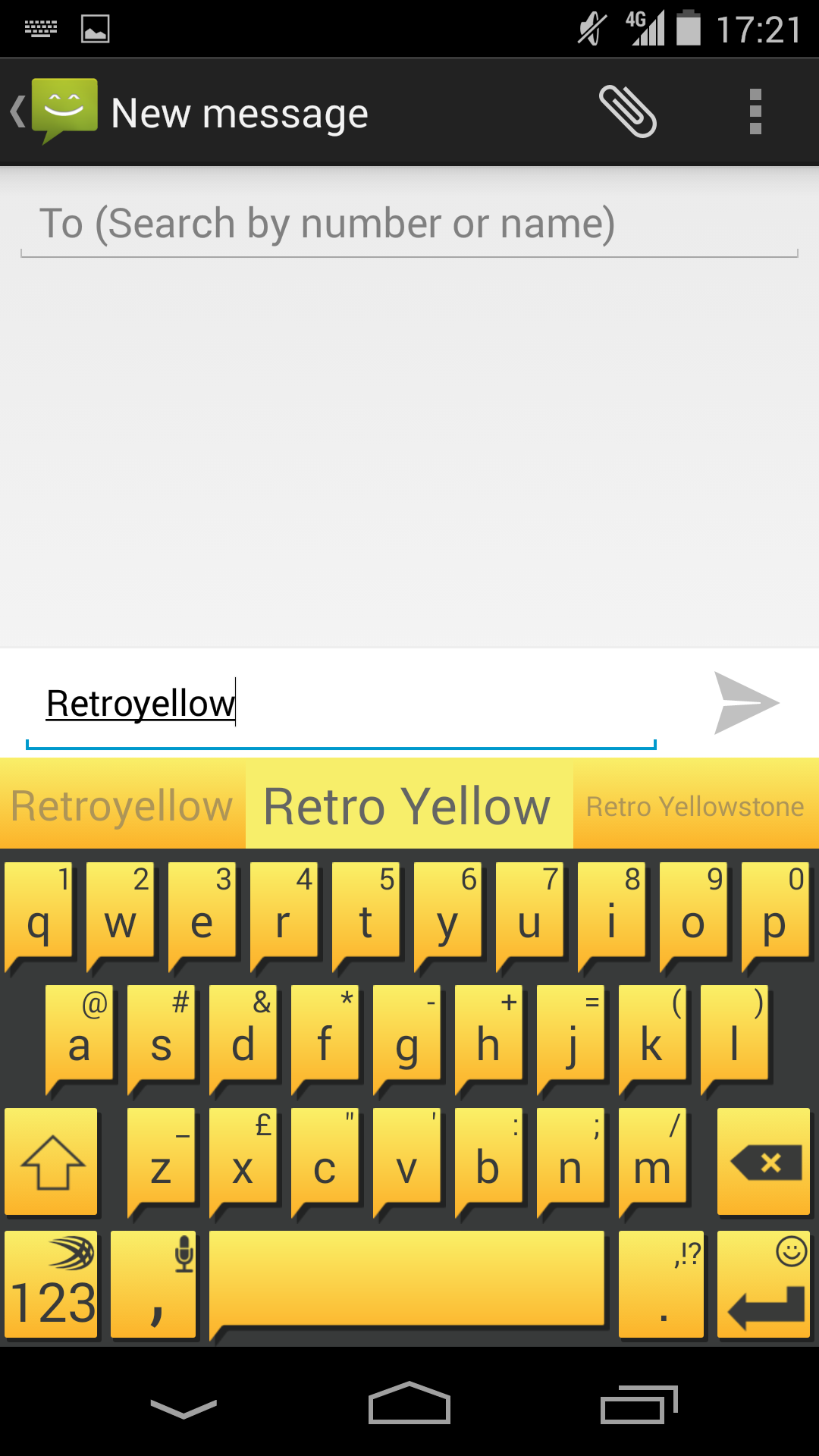 Retro Yellow - punch up your keyboard with this theme from