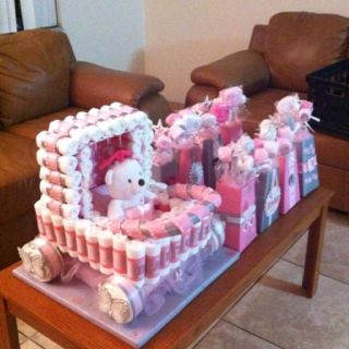 Stroller Diaper Cake And Centerpieces Baby Pinterest Baby