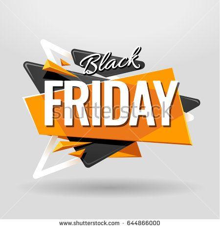 Black Friday geometric banner design template  Material