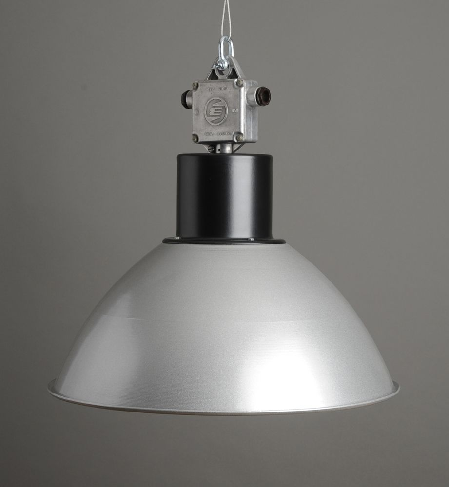A large industrial pendant factory light manufactured in the a large industrial pendant factory light manufactured in the former czechoslovakia complete with a spun mozeypictures Gallery