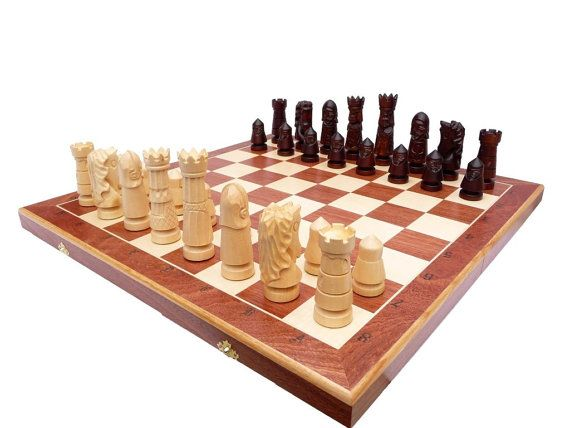 Unique Hand Made Wooden Chess Set Large 60x60cm от StylishChess