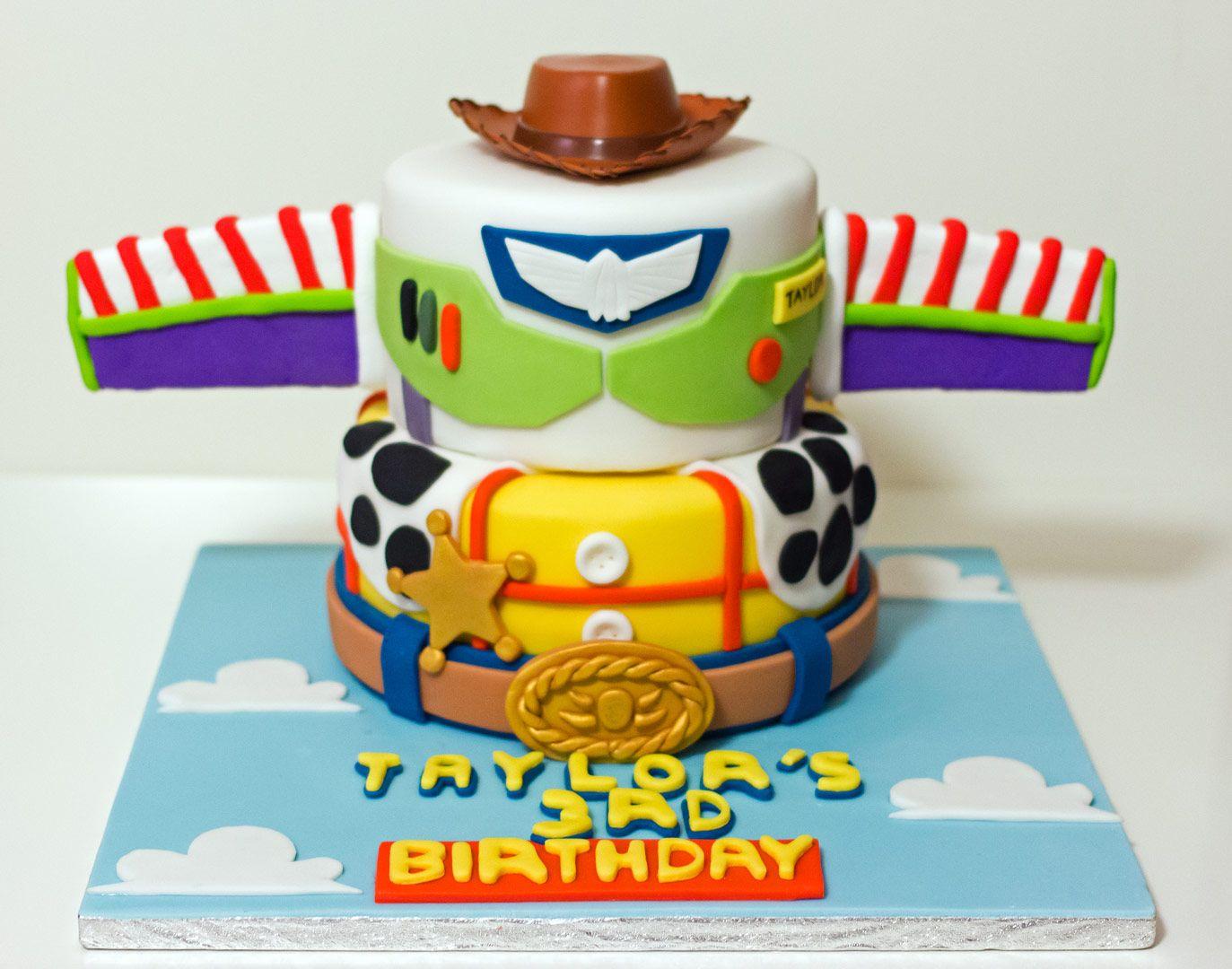 Toy Story Woody Buzz Birthday Cake Toystory Toystorycake