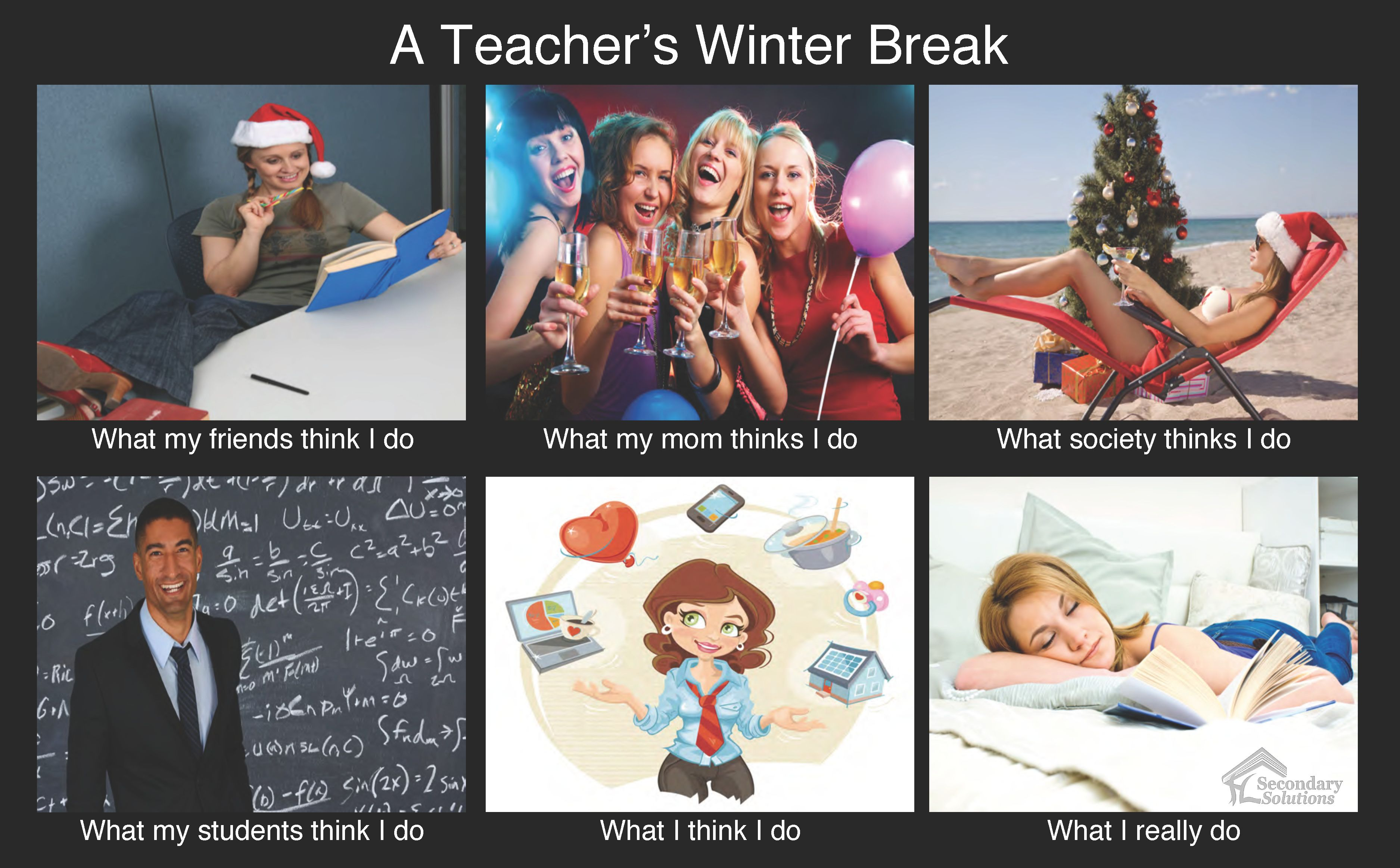 Winter Break School Meme