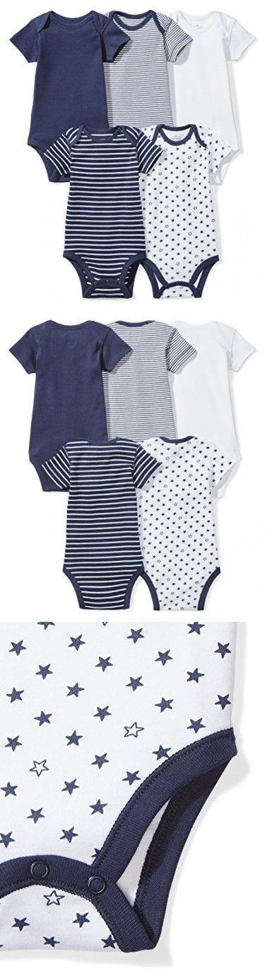 Moon and Back Baby Set of 5 Organic Short-Sleeve Bodysuits