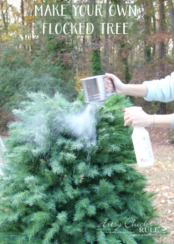 DIY Flocked Tree (easier than it seems, all the details