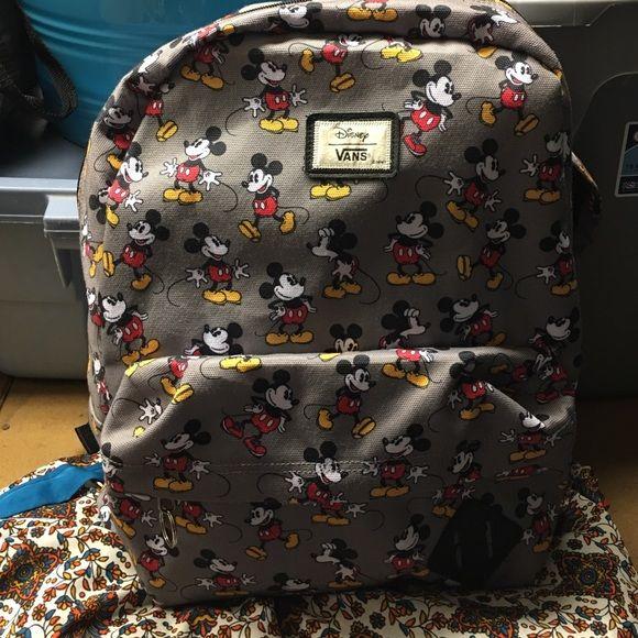 Mickey Mouse Book Bag Disney Vans Bags Backpacks