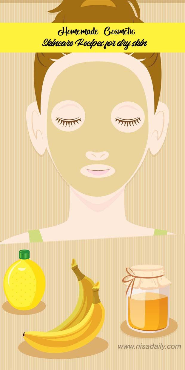 Homemade Cosmetic Skincare Recipes for dry skin | Nisadaily.com #homemadeskincare